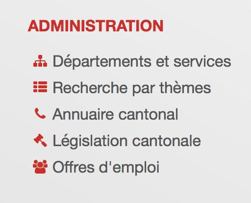 Organisation der Departemente und Abteilungen