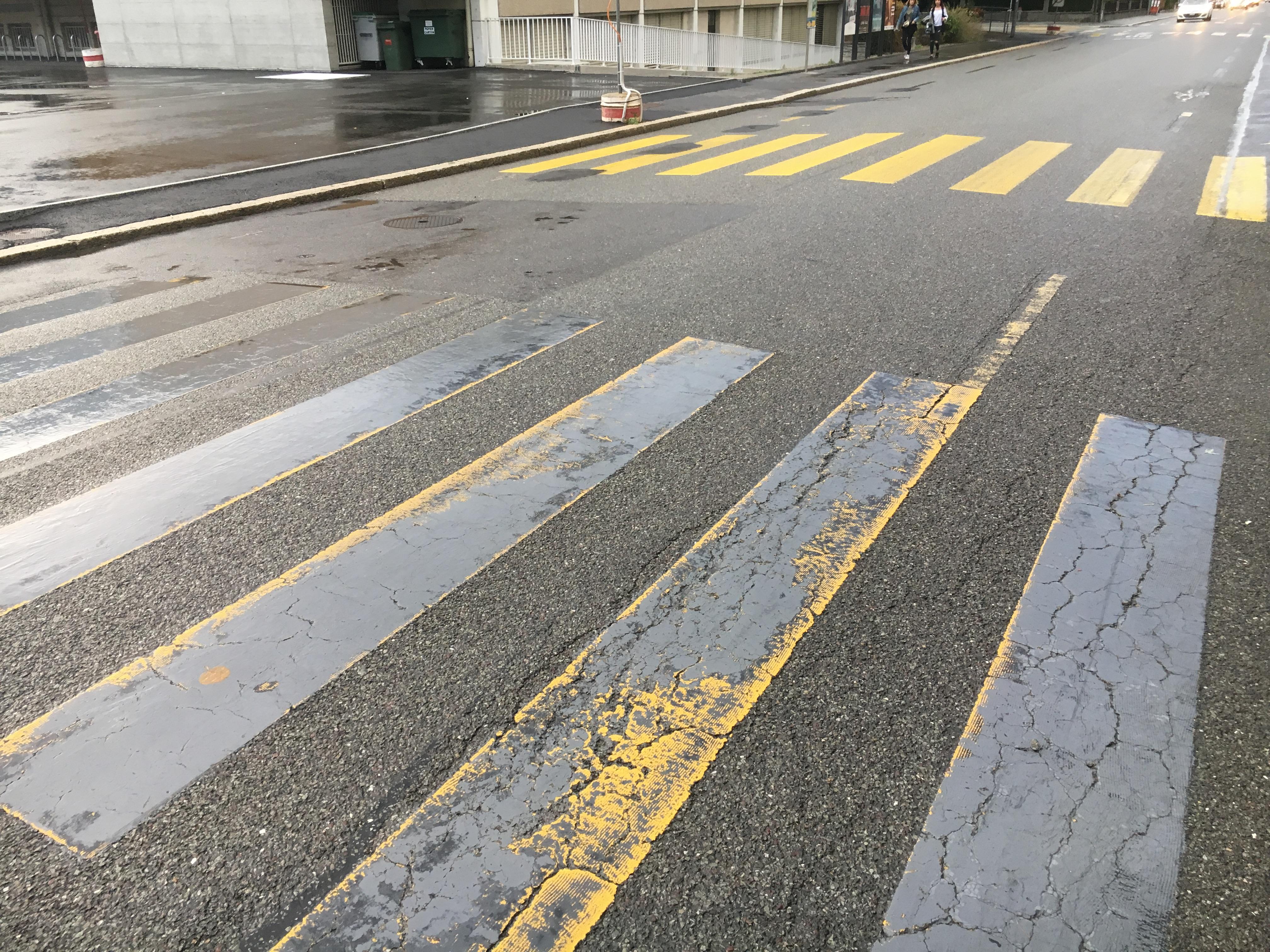 Sécurité routière, passages piétons (Via Sicura)