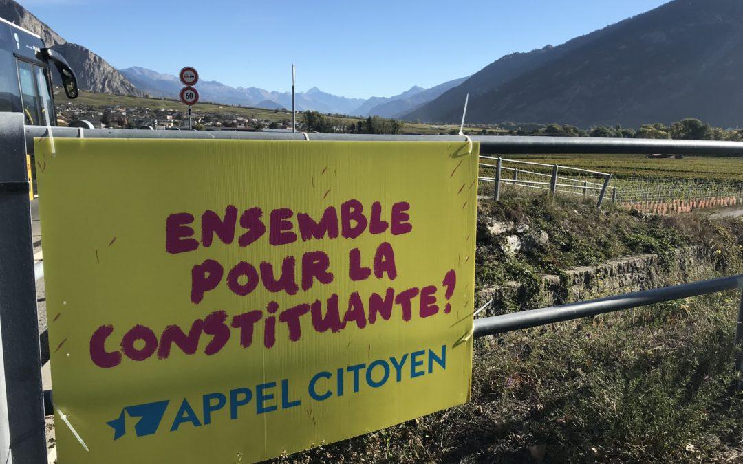 Appel Citoyen fait du bien au Valais !