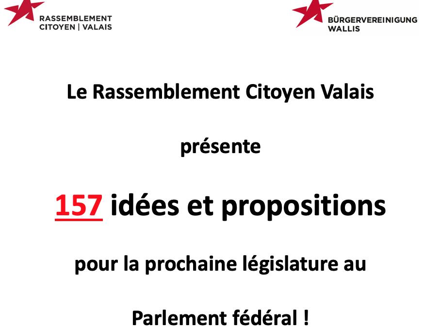 EF 2019 : découvrez les 157 idées et propositions du RCV!
