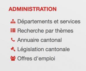 Verwaltung, Finanzen und Politik: Organisation der Departemente und Abteilungen